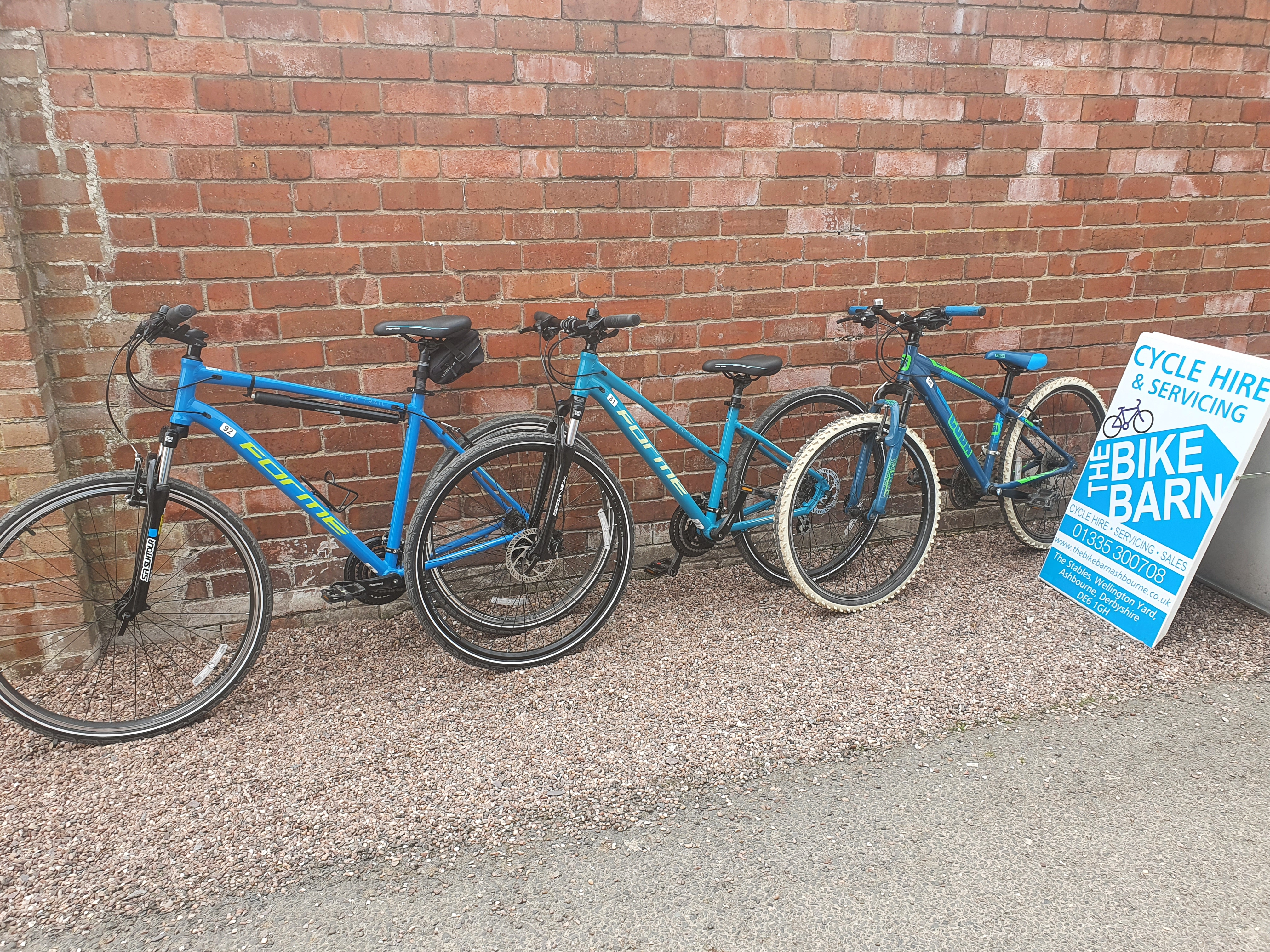 Some of our hire bikes