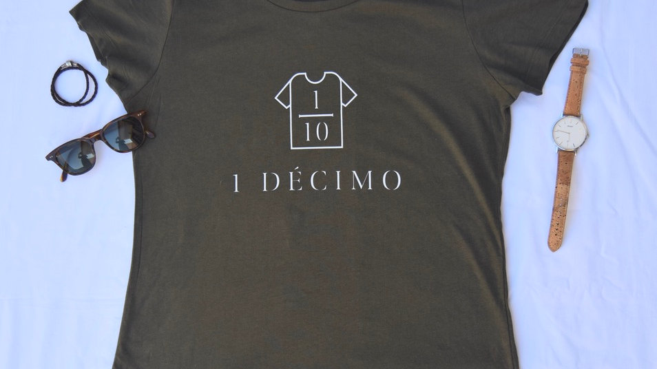 T-Shirt Logo Verde Senhora