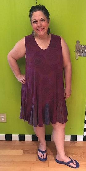 71 Flippy Dress - Purple Modal Pinwheel - Sz 1