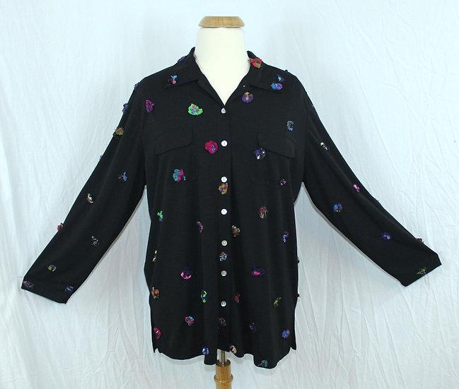 Meg Staley Appliqued DOT Shirt/Jacket (#004)