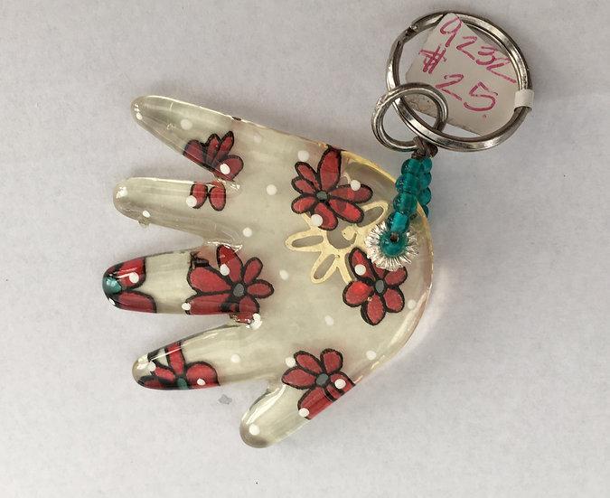 Hamsa Hand Key Ring - 9232
