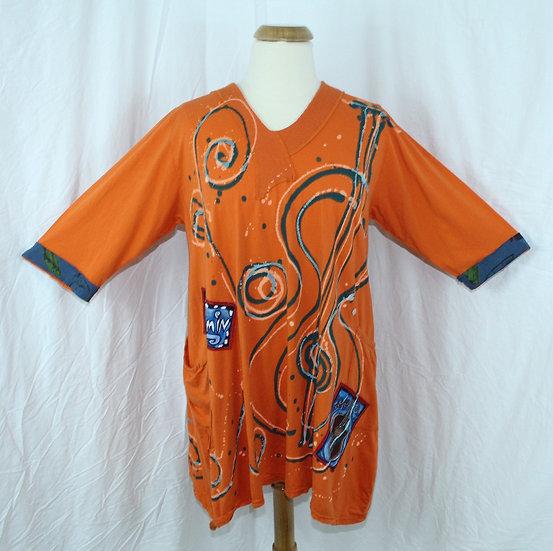 Bop Around Dress/Tunic-Large