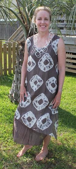 Bianco Levrin Tribal Silk Elsa Dress T410