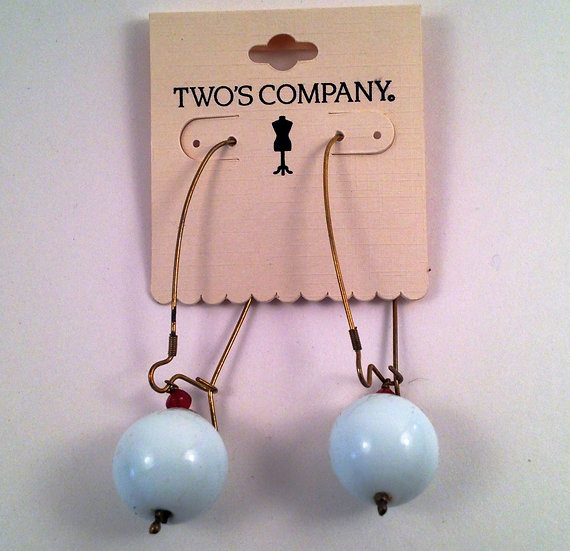 """Two's Company Set of 3 """"POP"""" of color earrings"""