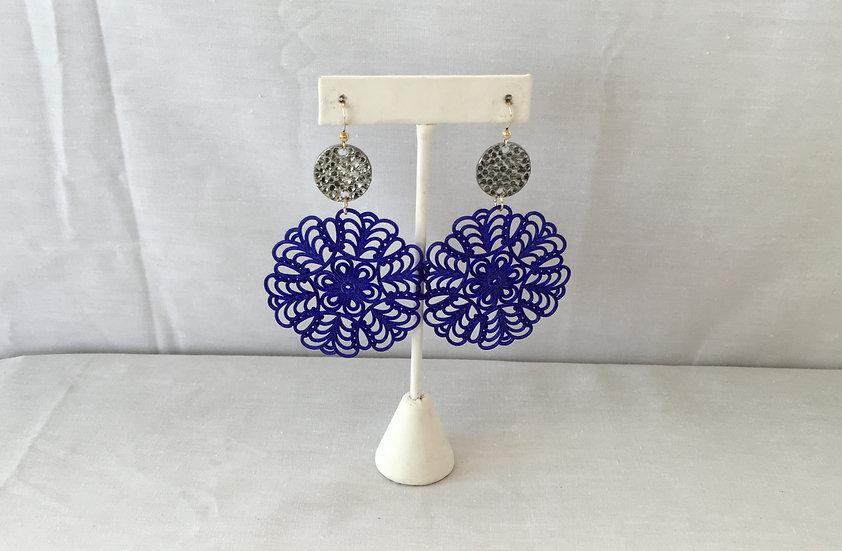 Elle V Designs Earrings - Blue