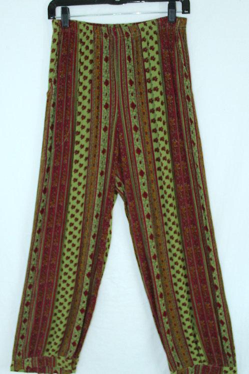 Flower Harem Pant - Green
