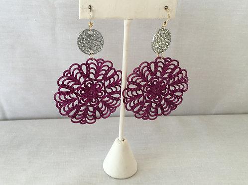 Elle V Designs Earrings - Purple
