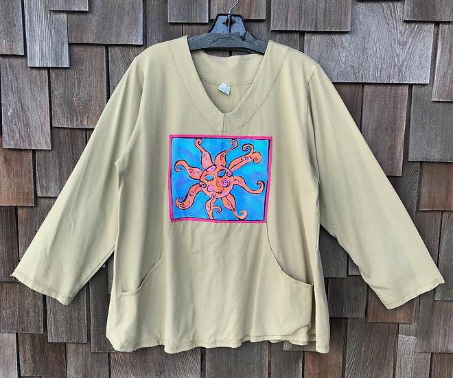 CEC070SB - Painted Pocket Pullover - Sun