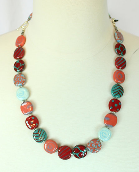 Kazuri Necklace/Bracelet and Earrings