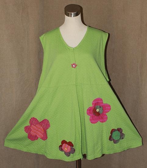 Flower Power Vest in Spring Green