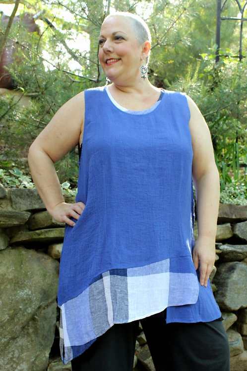 Royal Layer Tank w/ Checks (L319-1)