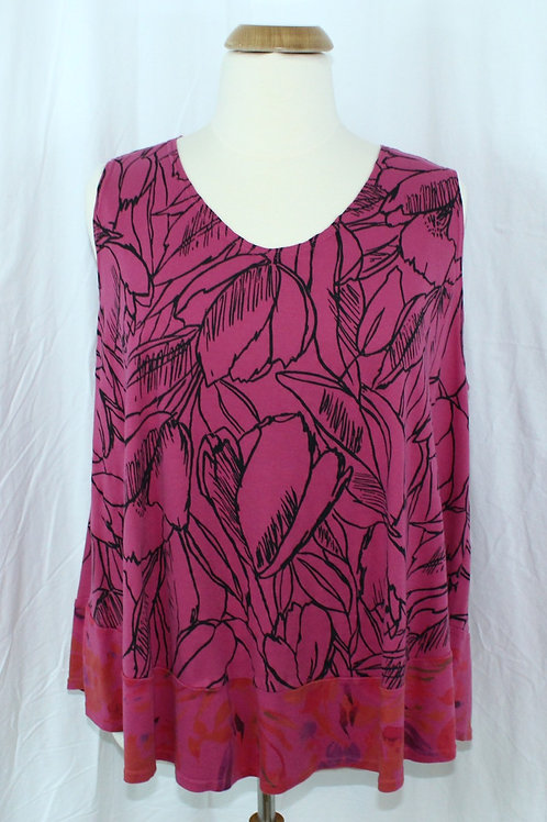 Fantastic Tank - Etched Floral Pinky -  Size 3