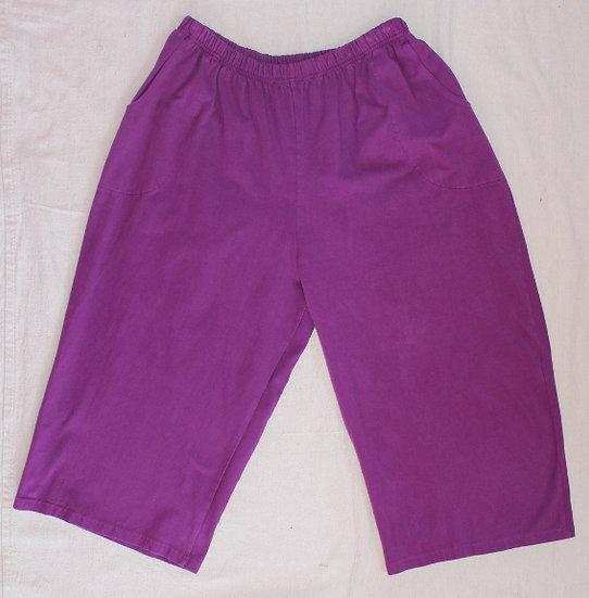 Solid Coastal Capris - Poppin' Purple
