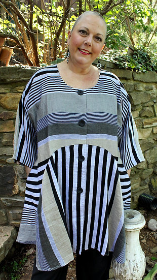 Sophisticatedly  Striped Tunic/Dress (Trans3001)
