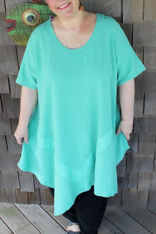 Jade Assymetrical long tunic/dress (#07-2916)