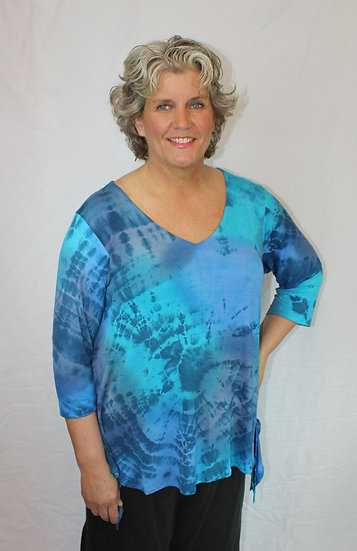 Hand Dyed Curvy Top