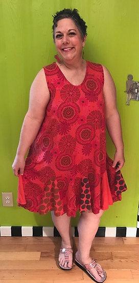 72 Flippy Dress - Orange Modal Pinwheel - Sz 1