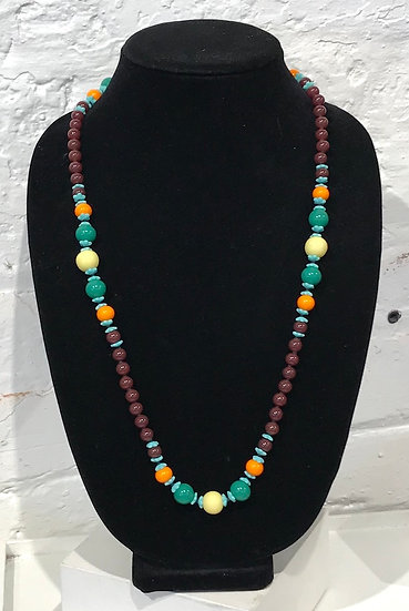 "Vintage Bead Necklace ""V"""