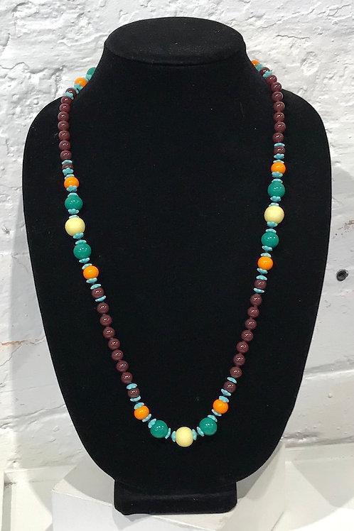 """Vintage Bead Necklace """"V"""""""