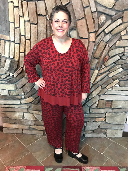Rockin' Red Outfit - Size 3  - 2pcs (#52)