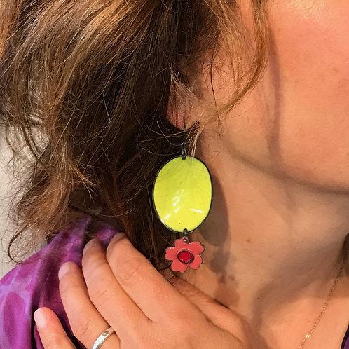 Go + Flower earring citrus/rose