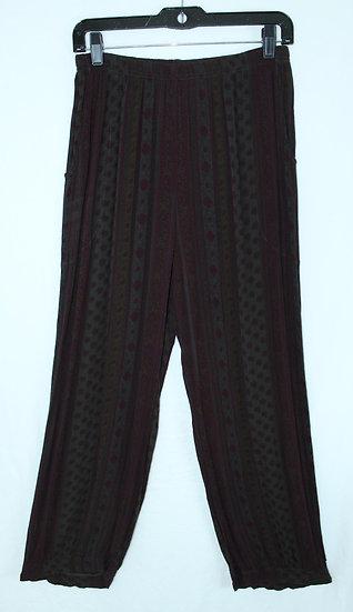 Flower Harem Pant - Brown/Black