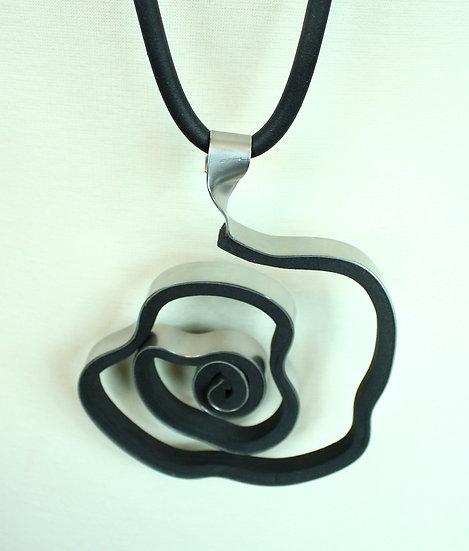 Aluminum Rose Necklace