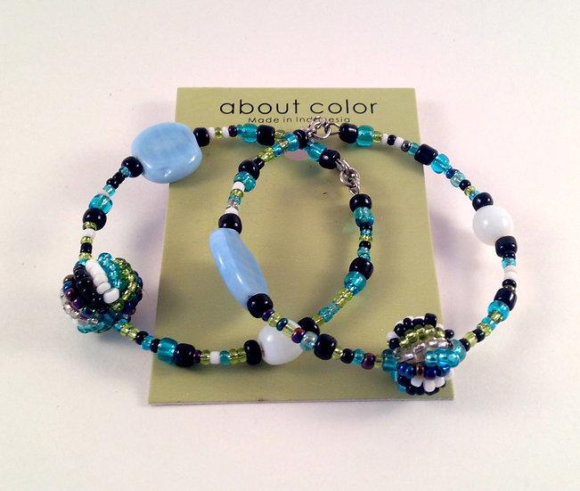 About Color Beaded Hoop Earrings