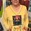 Thumbnail: CEC031RS - PocketFULL of Happy Sweatshirt - Sunshine - Sz 2 (L)