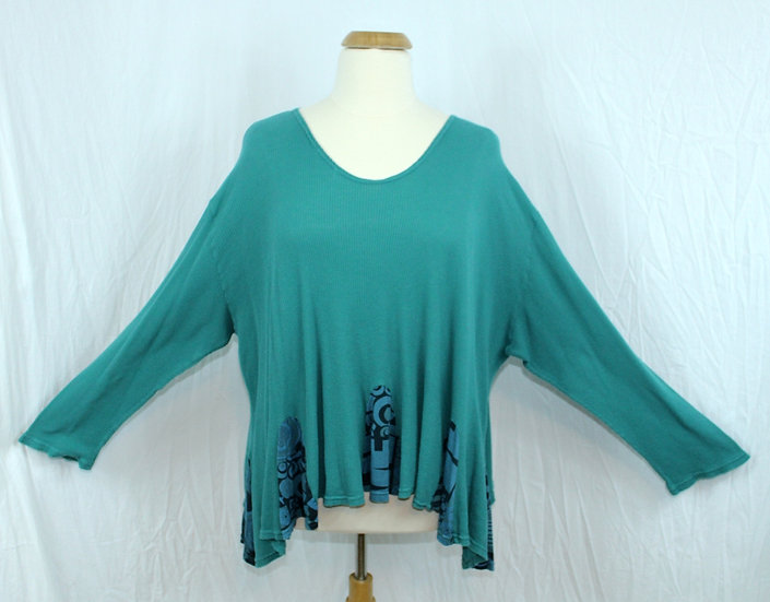 Thermal Flip Out Tunic - Turquoise L
