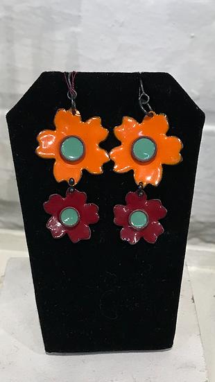 MFH - Double Flower - orange/wine