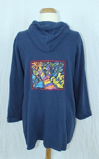 French Terry Graffiti Sweatshirt Jacket