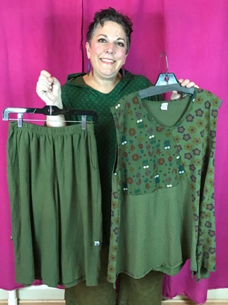 Outfit 6 - 2 pc. Olive - Size 1