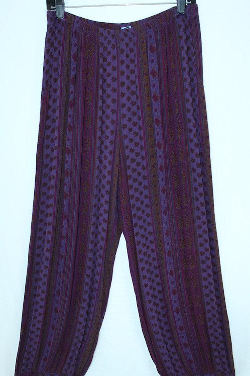 Flower Harem Pant - Purple