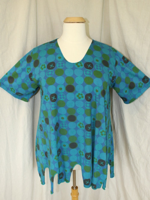 Polka Dot Wavy Top - Totally Turquoise Mix
