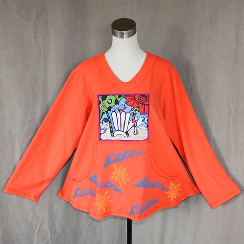 So Fun Sweatshirt – Orange Chillin on the Beach