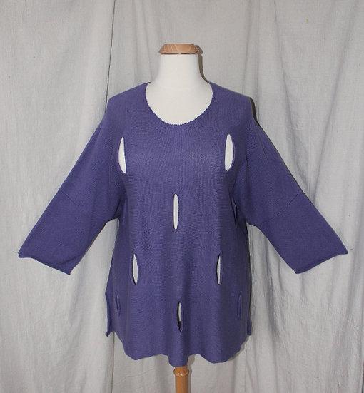 Holey Sweater in Purple