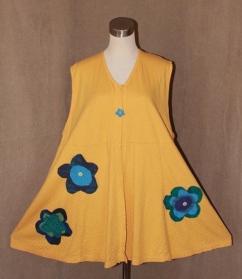 Flower Power Vest in Honey Yellow