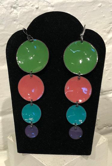 MFN-4 Dot Drop - green, pink, turq, purple