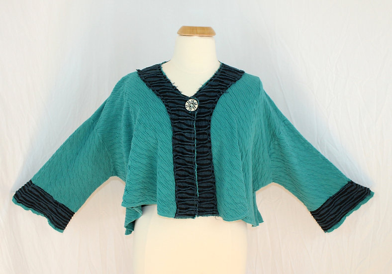 Street Style Jacket in Turquoise