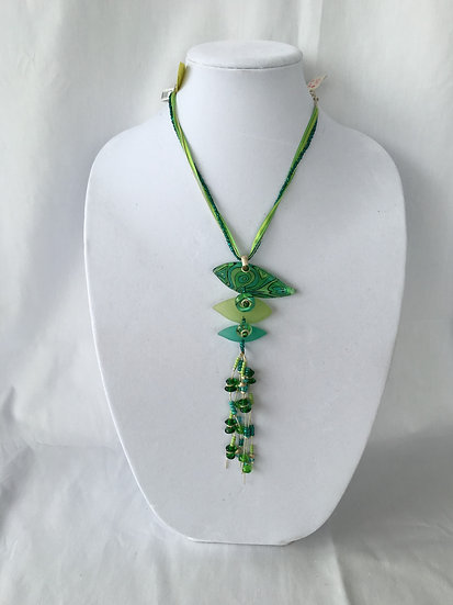 Funky Green Pendant Necklace - P4346/1