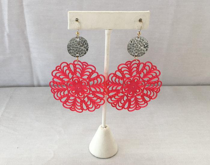 Elle V Designs Earrings - Pink