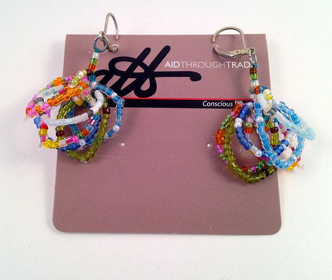 Aid Through Trade Multi Hoop Beaded Earrings