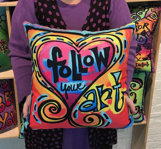 Pillow - Follow Your Art - Red