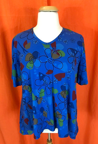 Mad Flower Tee Tunic - Sz XL  (#51)