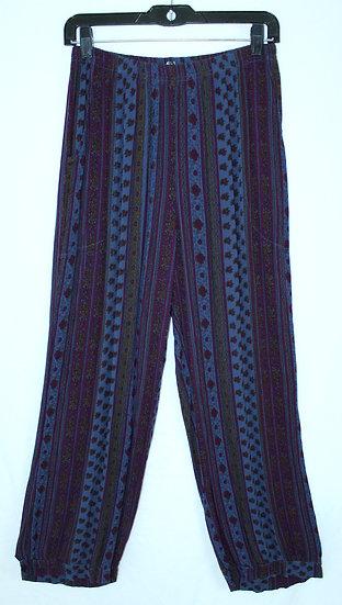 Flower Harem Pant - Blue