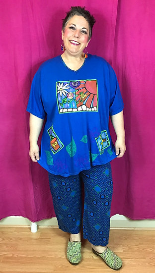2 Pc Outfit in Brilliant Blue - (#28)