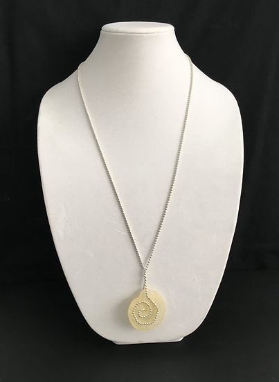 Clear Frosted Spiral Pendant Necklace - P4385/1