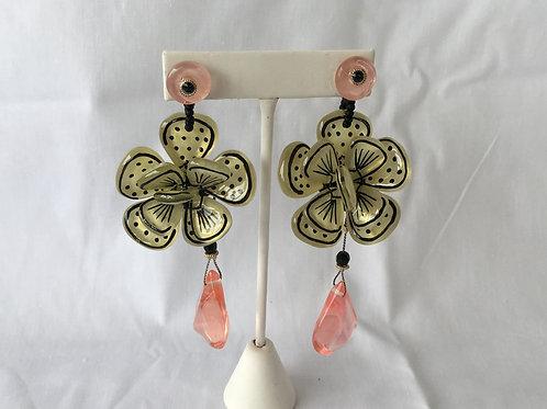 Pop Art Flower Earrings - E3470/1