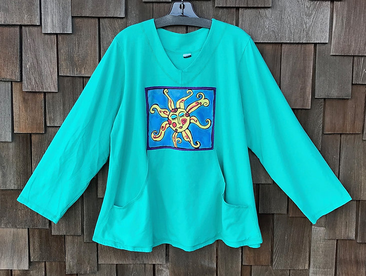 CEC073SB - Painted Pocket Pullover - Sun